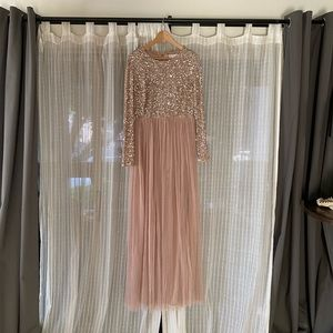 Sequin Maxi Long Sleeve Maya Dress!  Size 10